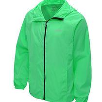 Asics Men's Packable Water/wind Resistant Reflectivity Jacket Green Xxl Photo