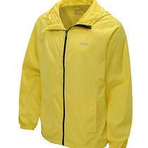 Asics Men's Packable Water/wind Resistant Reflectivity Jacket Medium Yellow Photo