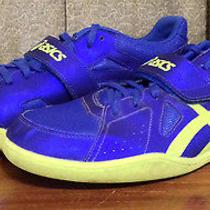 Asics Men's Size 12 Blue Lightweight Mesh Running Shoes Tie & Velcro G507y 324 Photo