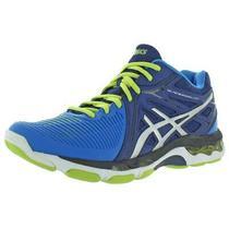 Asics Mens Blue Colorblock Volleyball Shoes Sneakers 6 Medium (Bm) Bhfo 0534 Photo