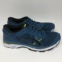 Asics Mens Gel Kayano 24 T749n Blue Running Shoes Lace Up Low Top Size 9 Photo