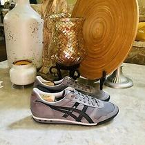 Asics Mens Gray Onitsuka Tiger Lace Up Comfortable Athletic Sneaker Shoes 9.5 Photo