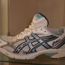 Asics Mesh W/ Aqua Blue & Silver Trim Running Shoes Womens 7.5   Eur 39 Photo