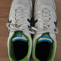 Asics Onitsuka Tiger White Black Blue Green Men's Sz 13 Running Shoes Photo