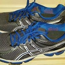 Asics Running Shoe Men Size 13 Blue Orange Gray Wow  Athletic Sports Photo