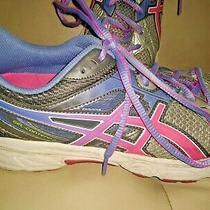 Asics T474n Gel Contend 2 Womens Athletic  Shoes Sneakers Size 10 Gray Pink Blue Photo