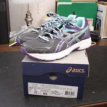 Asics T474n Gel-Contend Running Shoes  Women Size 8.5  Charcoal/purple/ice Blue Photo