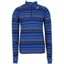 Asics Thermostripe 12 Zip Mens   Athletic    - Blue - Size Xxl Photo