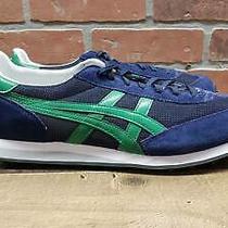 Asics Tiger Blue & Green Sneakers Men's Sz 9 Photo