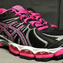 Asics Wmns Gel Nimbus 15 Sz 6.5 Lite Show Edition Black Hot Pink Running Premium Photo