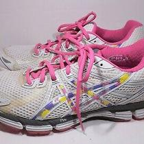 Asics Women Gt 2000 Gel Running Shoes Pink/ White/ Yellow Size 9.5 Photo