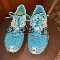 Asics Women Hyper-Rocketgirl Xc Running Shoe Trail Turquoise Lightning Lime 6.5 Photo