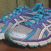 Asics Women's 7.5 Gel Excite 2 Silver Purple Turquoise Running Shoes T473n 296 Photo