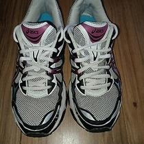 Asics Women's Gel-Galaxy 5 Running Shoes Us Size 8.5 White/berry/black T281n Euc Photo