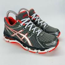 Asics Womens Gel Kayano 19 Running Shoes Size 7 Us Gray/pink T350q Photo