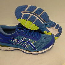 Asics Women's Gel Kayano 24 (D) Blue Purple Regatta Blue Running Shoes Size 8 Us Photo