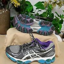Asics Women's Gel-Nimbus Sneakers Gray/white/purple size7.5 Photo