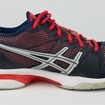 Asics Women's Gel-Solution Speed Running Shoe Size 8.5 Blue Gray Pink E250n Photo