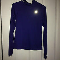Asics Women's Long Sleeve Hooded Purple Running/biking Shirt Small Photo