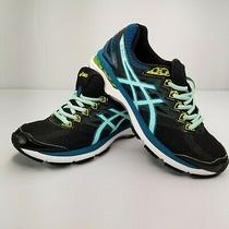 Asics Women's Running Sneaker Gt-2000 Size 9 Blue Mint and Teal on Black. Photo