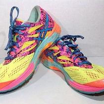 Asics Women's Size 8 Gel Noosa Tri 10 Yellow Pink Running Shoes Sneakers Zh-1615 Photo