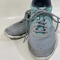 Asics Womens 33-Dfa Running Shoes Teal Green T582n Low Top Lace Up Sneakers 9.5 Photo