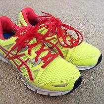 Asics Womens Gel Blur 33 2.0 Running Shoe Yellow Hot Punch Silver T2h8n Nib Sz 6 Photo
