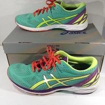 Asics Womens Gel Ds Racer 10 Green Running Training Athletic Shoes Sz 11.5 Zc-89 Photo