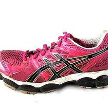 Asics Womens Gel Nimbus 14 Womens Running Tennis Shoes Sneakers Sz 8 Pink Photo