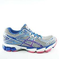 Asics Womens Gt 1000 Road Running Shoes Size 6.5 Silver Blue Pink T3r5n Photo
