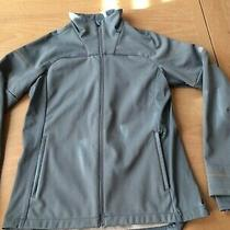 Asics Womens Lite Full Zip Reflective Insulated Jacket Thumb Holes Blue Gray M Photo