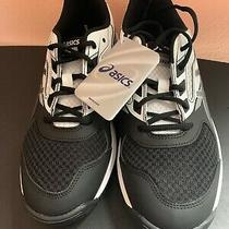 Asics Womens Size 10.5 Upcourt 2 Black White Silver Volleyball Shoes B755y-9093 Photo