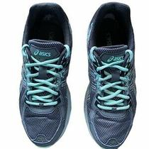 Asics Womens Size 8.5 Gray Sneakers Gel Venture 6 Running Shoes T7g7q Photo