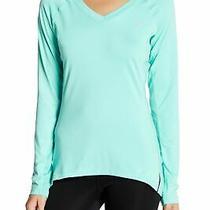 Asics Womens Top Blue Size Xl Activewear v Neck Logo Media Pocket 42- 743 Photo