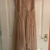 Asos Bridesmaid Pinny Maxi Dress With Ruched Bodice & Layered Skirt Blush Size 8 Photo