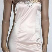 Asos Designer Blush Sequins Halter Dress Size 8-Xs Bnwt Sr50 Photo