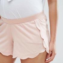 Asos Maternity Scallop Hem Short in Peach Pink Uk Size 6 Blush Photo