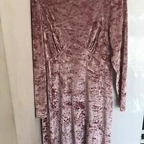 Asos Pink Blush Velvet Midi Maxi Dress Size 16 Never Worn New Without Tags  Photo