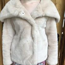 Asos Powder Pink Blush Fur Shawl Collar Coat Jacket Photo