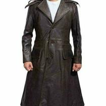 Assassins Creed Syndicate Jacob Frye's Jacket Brown Trench Leather Hoodie Coat Photo