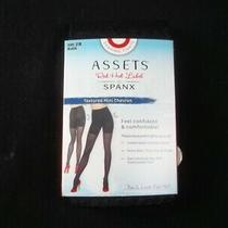 Assets by Spanx Shaping Tights Size 2 B Black Textured Mini Chevron Photo