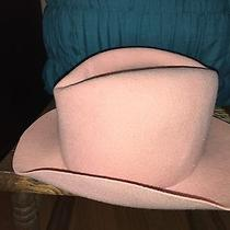 Astre Hat 100% Wool Plush Color Blush Pink Made in Usa Photo