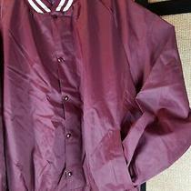 Asw Jackets Sportswear Coach's Nylon Jacket Men's 3xl Water Resistant Burgandy  Photo