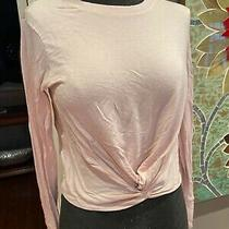 Athleta Blush Pink Long Sleeve Shirt Knotted Front Xs Xxs Photo