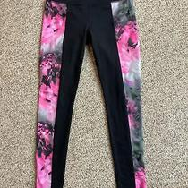 Athleta High Rise Chaturanga Pink Bloom Tights Size M or Medium Photo