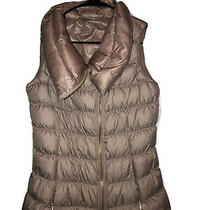 Athleta Rose Gold  Down Puffer Zip Up Vest Size 4 Photo