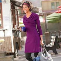 Athleta Sochi Sweater Dress Purple Velvet Heather Sz Xxs Photo