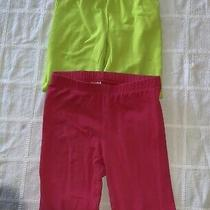 Athletic Capri Leggings 4-6 & 6 Gap & Circo Lot of 2 Green Pink Photo