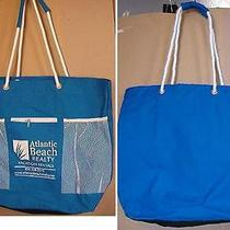 Atlantic Beach Realty Large Hobo Purse Big Canvas Beach Bag Students Handbag Photo