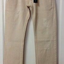 Atos Lombardini Stretto Lungo Jeans Ciprio Blush/nude Size 27 Made in Italy Nwt Photo